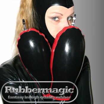 Inflatable latex gloves