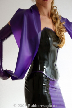 Latex over bust corset