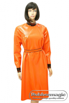 Latex doll dress with latex belt, 0,60 mm