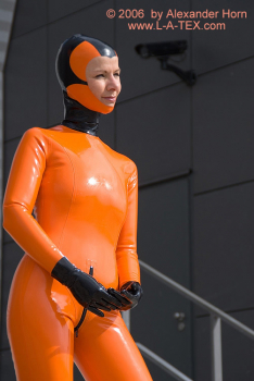 Latex catsuit with Vienna seams for Ladies