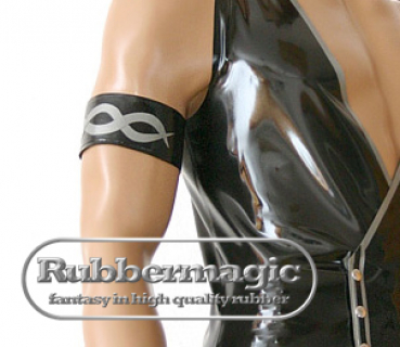 Latex upper armband with motif