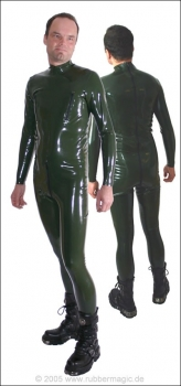 Latex catsuit for men without breast zippers, 0,60 mm