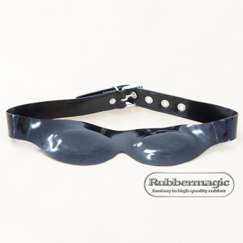 Latex-eyes mask with attached, adjustable latex belt