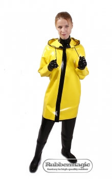 Latex rain jacket