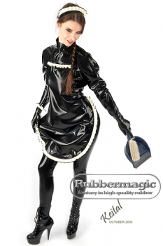 Latex house maid apron