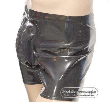 Rubber, Rubbermagic,  Latex-Shorts mit Penishülle / Hodenhülle Hodenpräservativ, Rubber, Rubbermagic, Latexkleidung, Latexbekleidung
