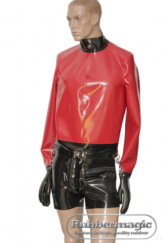 Heavy latex discipline jacket
