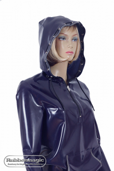 Latex hoodie with kangaroo pocket