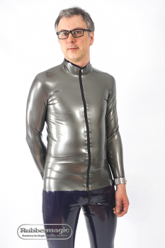 Langärmliges Latex-Shirt