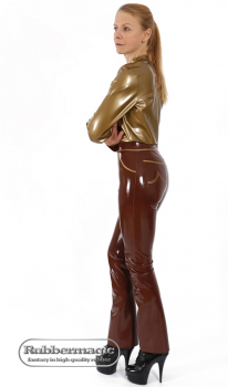 Latex Jeans for Ladies with 2 hip pockets with applications