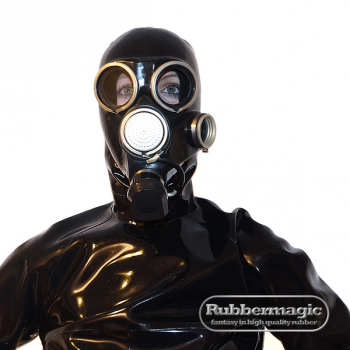 Russian gas mask GP-7  with latex hood and zipper