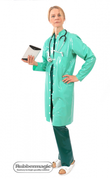 Latex lab coat