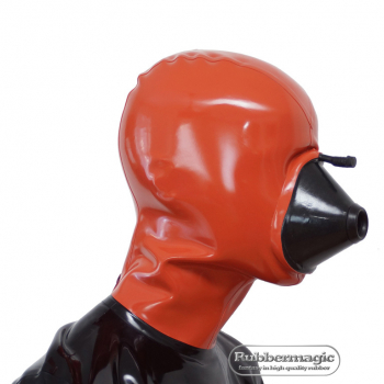 Breath mask with latex hood