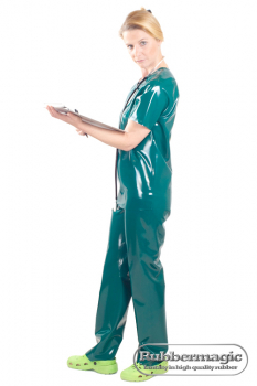 Latex-OP-trousers,Latex surgical mask,latex medical clothing, clinical clothing,Rubbermagic