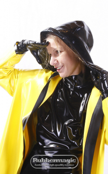 Latex rain hat