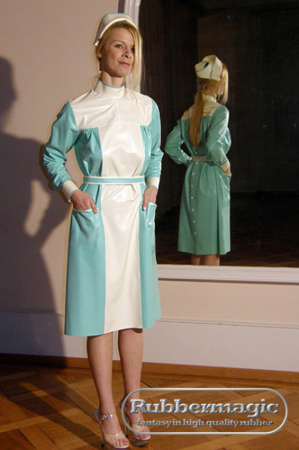 rubber clinic clothing,latex hospital clothing,latex Dresden,Latex store Dresden,Rubbermagic