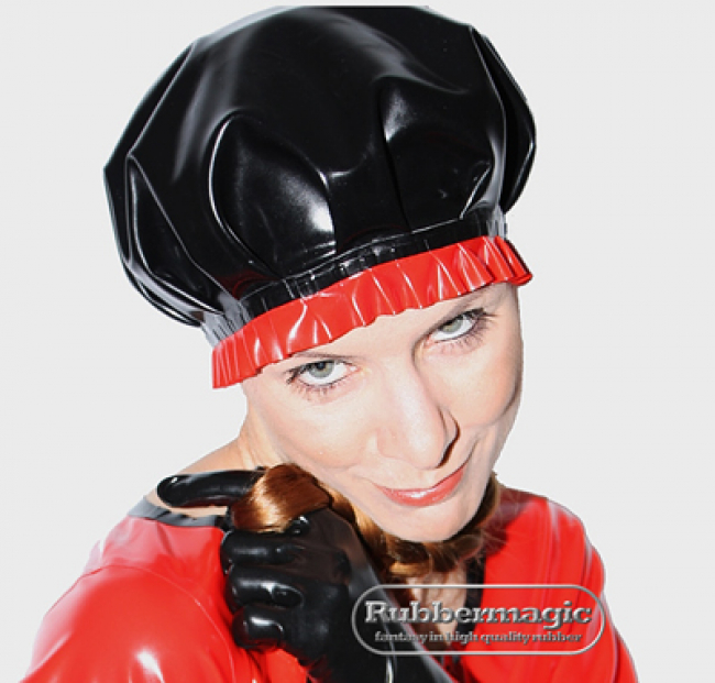 Latex Frills Hood