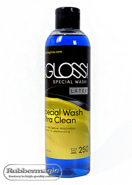 beGLOSS SPECIAL WASH LATEX,latex detergent,special cleaning agent for latex clothing,latex cleaner,Latex care,Rubbermagic,latex store Dresden,Latex clothing Dresden