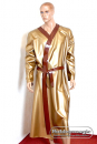 Long latex dressing-gown